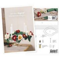 Postcard , Advent wreath made from crepe paper, A5, 14,8x21 cm, 1 pc