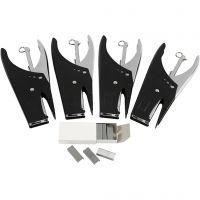 Stapler and staples, no. 6/4, W: 6 mm, 1 set