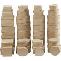 Boxes, H: 5-7,5 cm, D: 10-18 cm, 72 pc/ 1 box