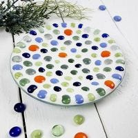A Glass Dish with Mosaic Art