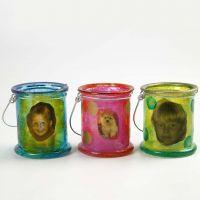 Glass Decoupage on Lanterns
