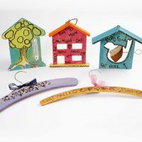 Wooden Items decorated with a Pyrography Tool and Plus Color