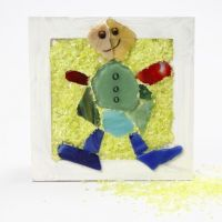 Collage Frames with Glass Mosaics and Decorative Sprinkles