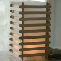 A Japanese Lantern made from Lolly Stick Slats