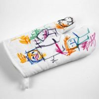 An iIlustrated Oven Glove