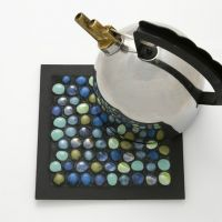 A Trivet made from Glass Deco Stones in a Collage Frame