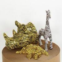 Papier-Mâché Animals with Decoupage
