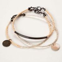 Beading Wire Bracelets with Rocaille Seed Beads and Pendants