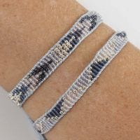 A woven Bracelet with Rocaille Seed Beads