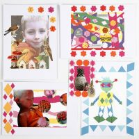 A Collage with punched-out Designs
