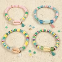 Bracelets with coloured Sea Shells and a Tassel