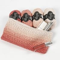 A crocheted Make-up Bag with Ombre Effect