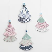Folded Design Paper Christmas Trees