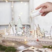 A wooden Advent calendar