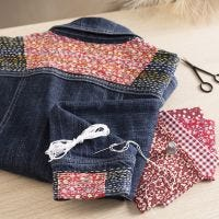 Japanese embroidery on your jeans jacket