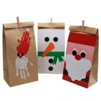 Beautiful Christmas bags decorated with glazed paper