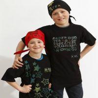 T-Shirts and Bandanas with Stamp Printing