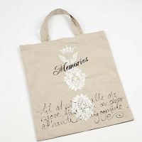 Flax shopping bag with print