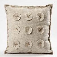 A Cushion made from Textured Acrylic Felt