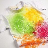 A T-Shirt with Spray Paint