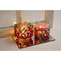 Candle Holders with Weaving Paper Strips