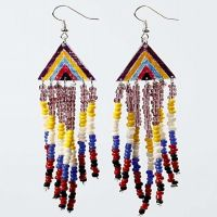 Earrings with Rocaille Seed Beads