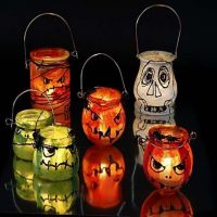 Ghastly Lanterns with window paint