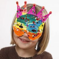 Card Masks decorated with Marker Pens and Sequins