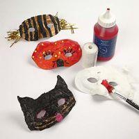 Plastic Masks with Gauze Bandage