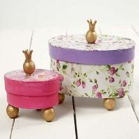Princess Boxes with Decoupage
