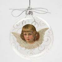 A Glass Bauble with Vintage Die-Cut