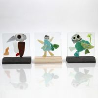 Glass Plates with Mosaic decorated with Glass & Porcelain Markers