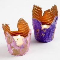 Gauze Bandage Tealight Candle Holders