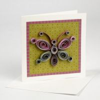 Quilling on a Greeting Card
