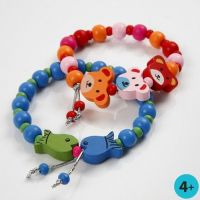 Bracelets with Wooden Beads and Shaped Wooden Beads