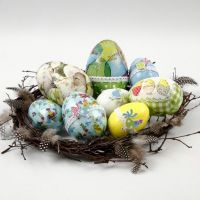 Easter Eggs with Napkin Decoupage