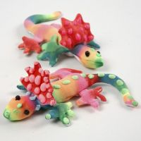 Fabric Creepy-Crawlies decorated with Textile Markers and 3D Puff Liner
