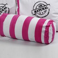 A Cylindrical Cushion made from Tea Towels