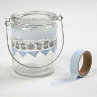 Lanterns decorated with Masking Tape