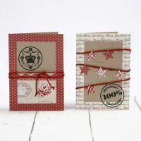 Recycled Greeting Cards  decorated with Vivi Gade Design
