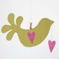 A Helsinki Design Paper Bird with Hearts