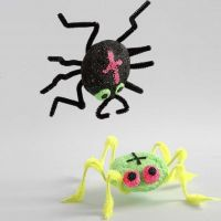 A Spider made from Polystyrene and Foam Clay