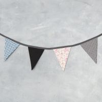 Bunting made from organic Vivi Gade Cotton Fabric