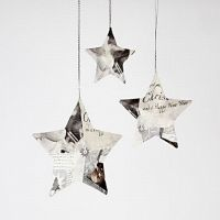 Stars with Napkin Decoupage