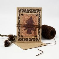 A Christmas Card in natural Colours with Vivi Gade Design Paper