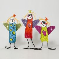 Colourful Angels made from Bonsai Wire and Gauze Bandage