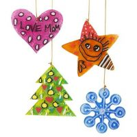 Painted and Marker-drawn acrylic Christmas hanging Decorations