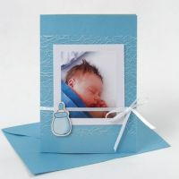 A turquoise Invitation for a Christening