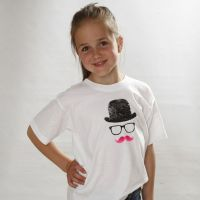 A T-Shirt with a Hat, Glasses and a Moustache