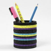 A Pot made from colourful Nabbi Fuse Beads